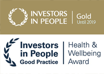 Investors in People Gold and Health and Wellness accreditation