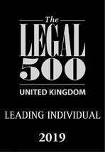 Legal 500 Leading individual 2019