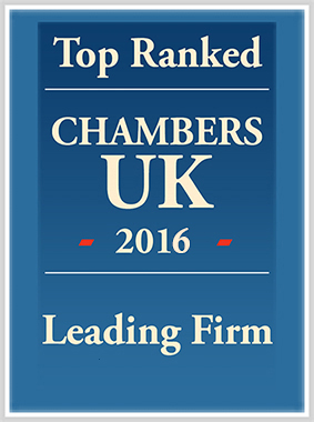 Top Ranked Chambers UK 2015 – Leading Firm