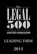 1. The Legal 500 UK – Leading Firm 2015