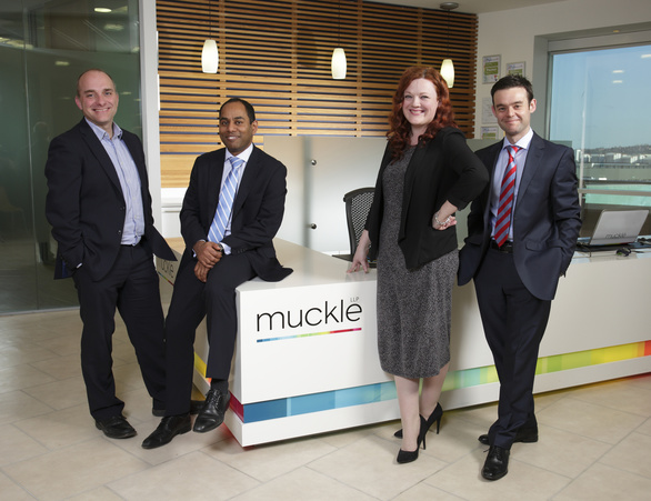 Managing Partner Jason Wainwright (left) with Kevin Maloney, Nicola Barnett and Adam Aston