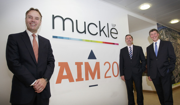 L-R Marcus Suttard and Mark Faye (both LSE) and Andrew Davison (Mucke LLP)