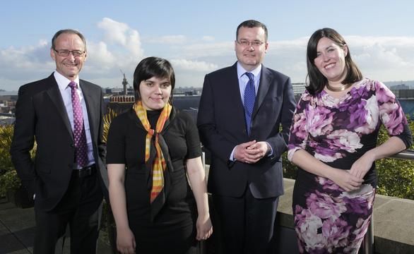 Hugh Welch (Muckle LLP), Olga Ivannikova (LawWorks), Martin Barnes (LawWorks) & Jess Campbell (Bar Pro Bono Unit)