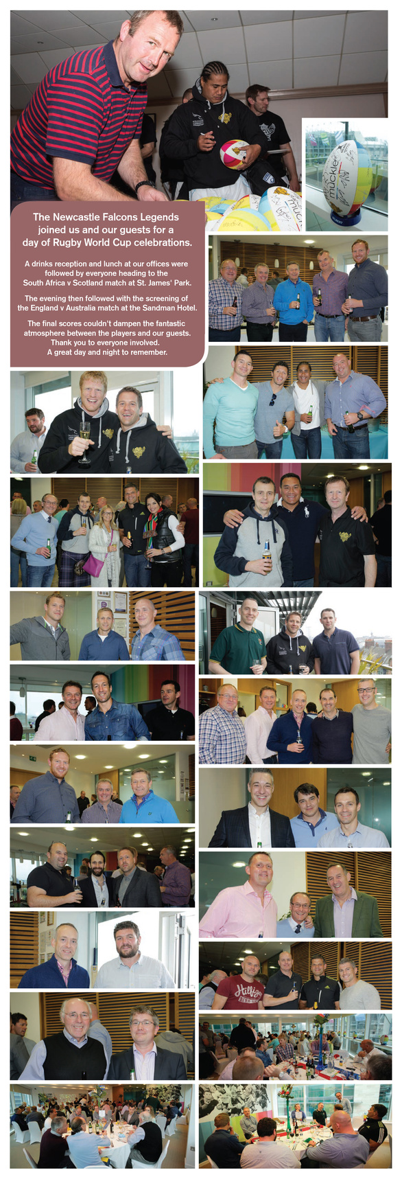 Collage of rugby pictures