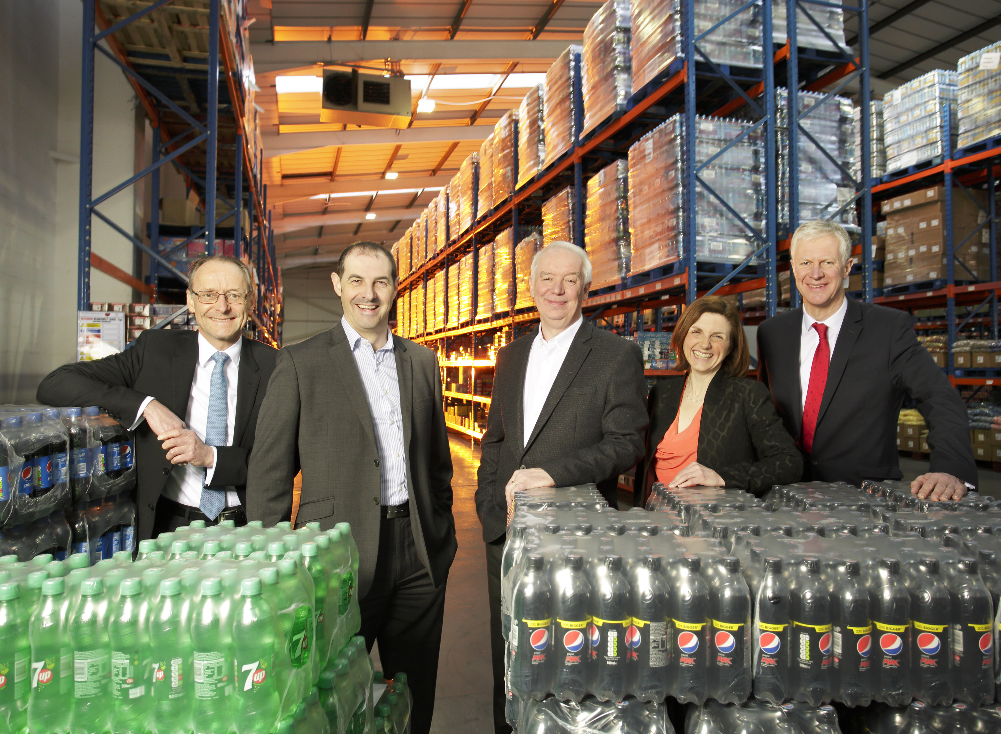 L-R Hugh Welch, Muckle; David Brind, Kitwave FD; Paul Young, Kitwave CEO; Louise Duffy, Muckle; Rod Wilkinson, KPMG