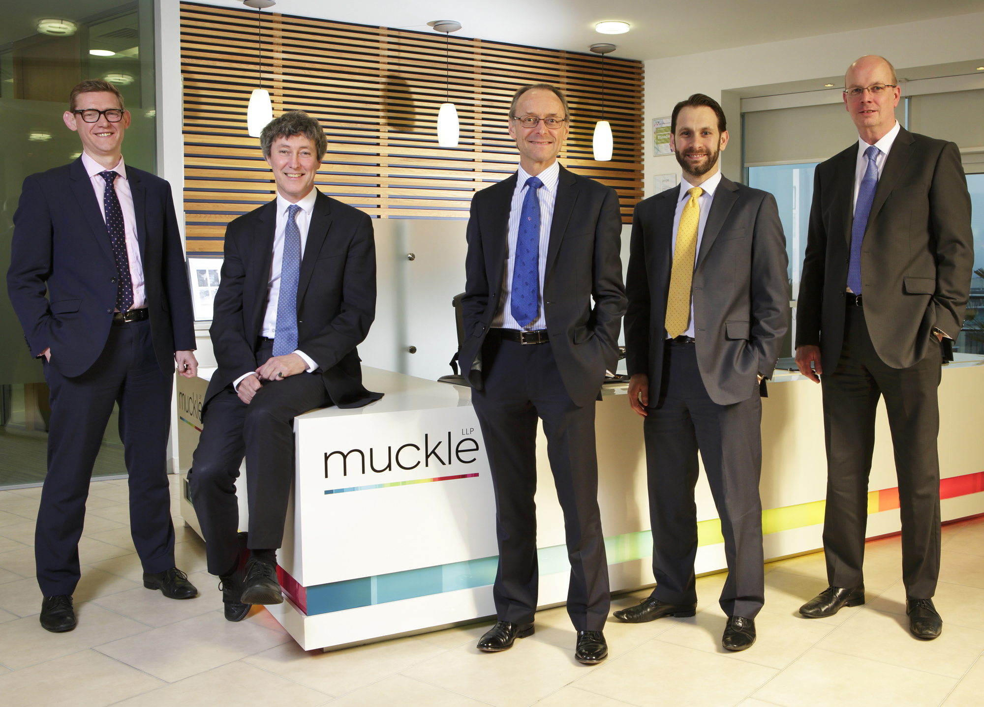 Corporate team partners L-R Anthony Evans, Andrew Davison, Hugh Welch, Philip Clare, Mike Spetch
