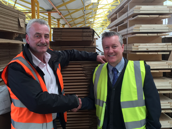 Ron Tranter, General Manager of Rosewood Packaging (Manchester), and John Lord, Group Sales Director of Rosewood Packaging