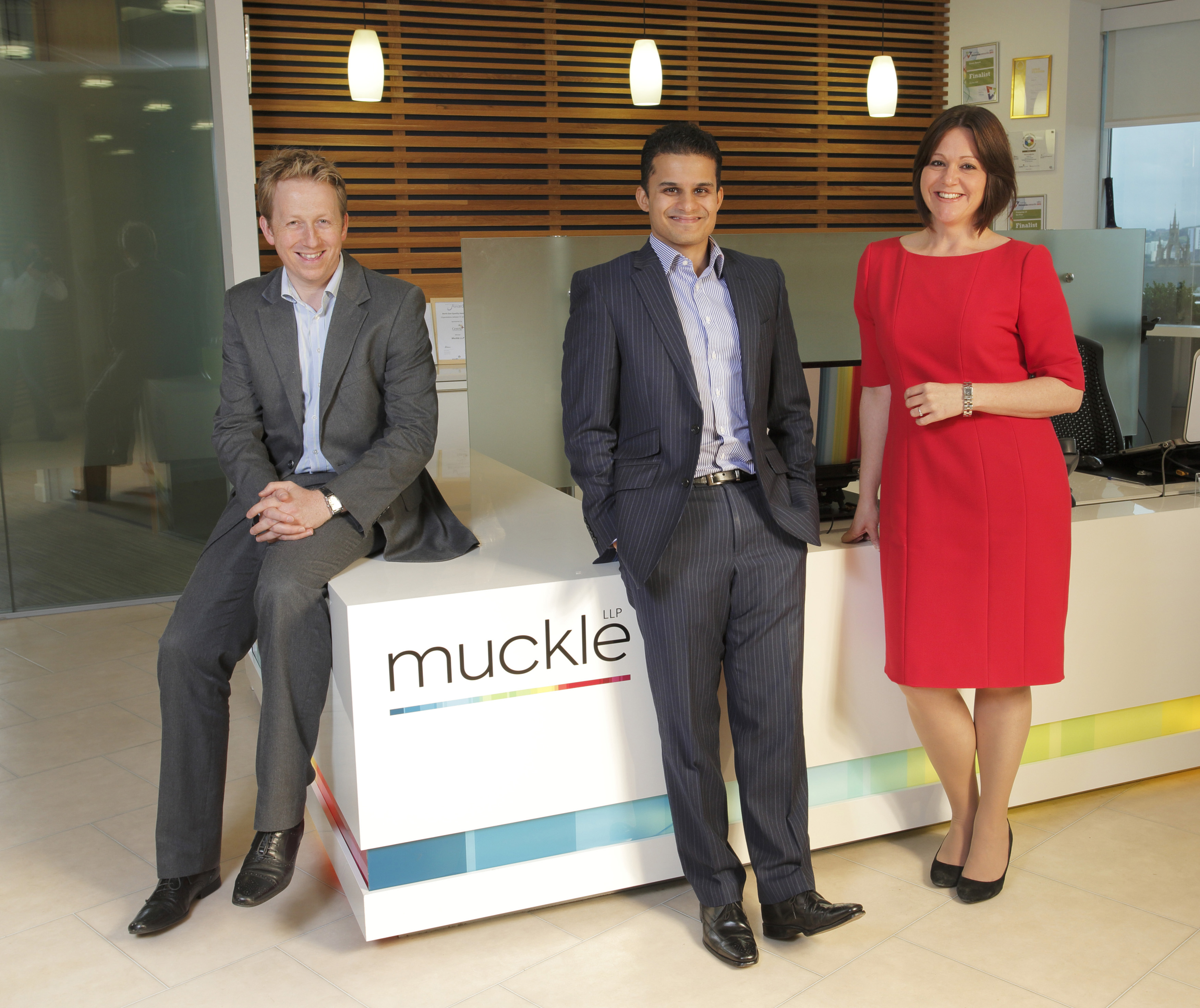 Andrew Cawkwell, Aman Sehgal and Kelly Jordan of Muckle LLP
