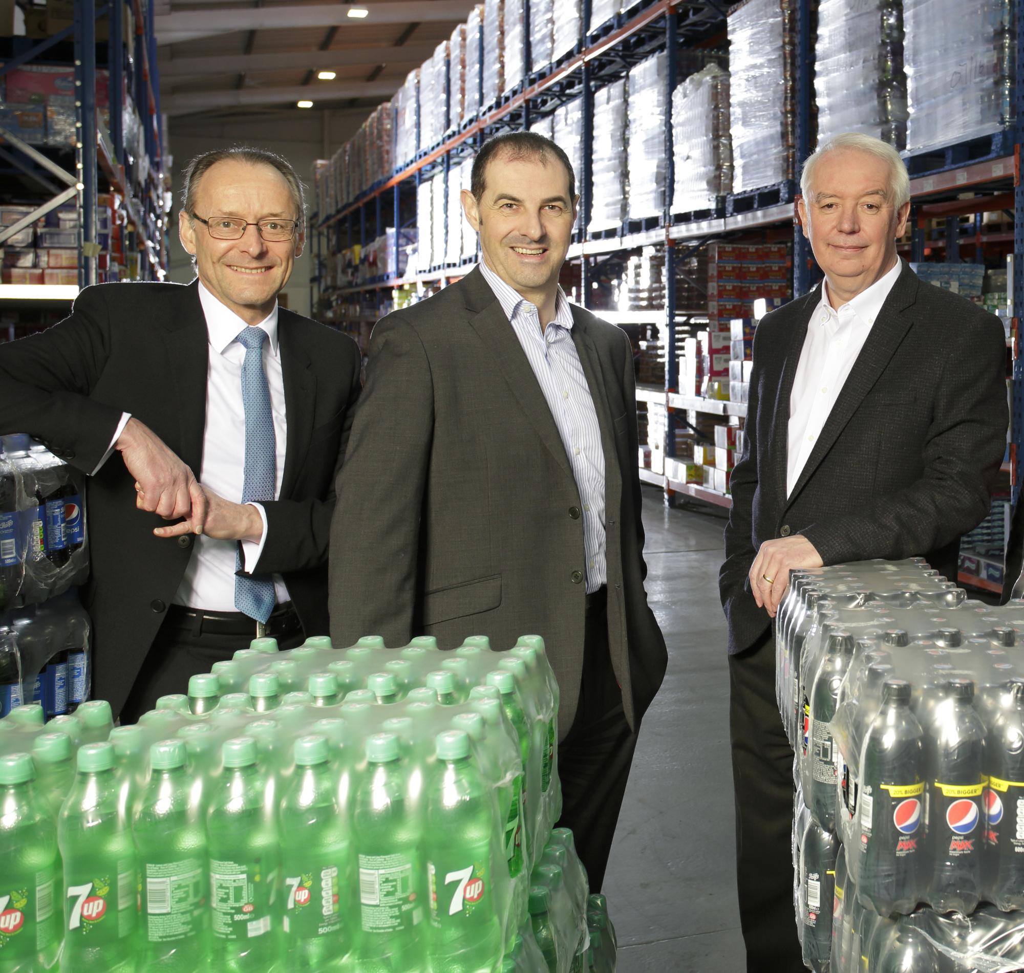L-R Hugh Welch, Muckle; David Brind, Kitwave FD; Paul Young, Kitwave CEO