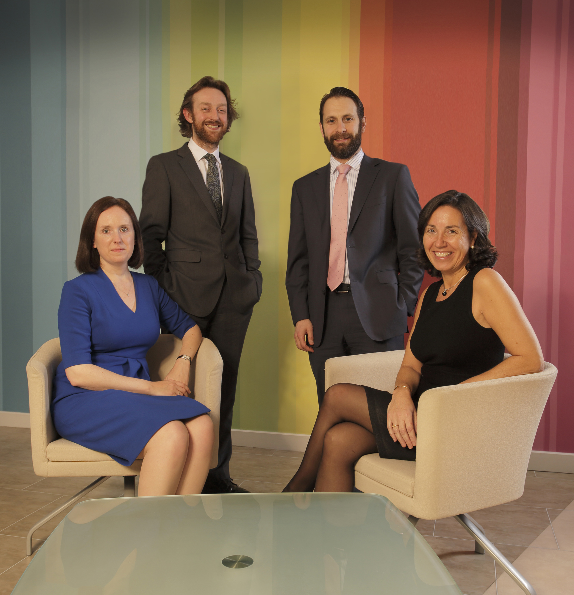 From left, Sarah Forster, John Hays, Philip Clare and Marta Fernandez Varona
