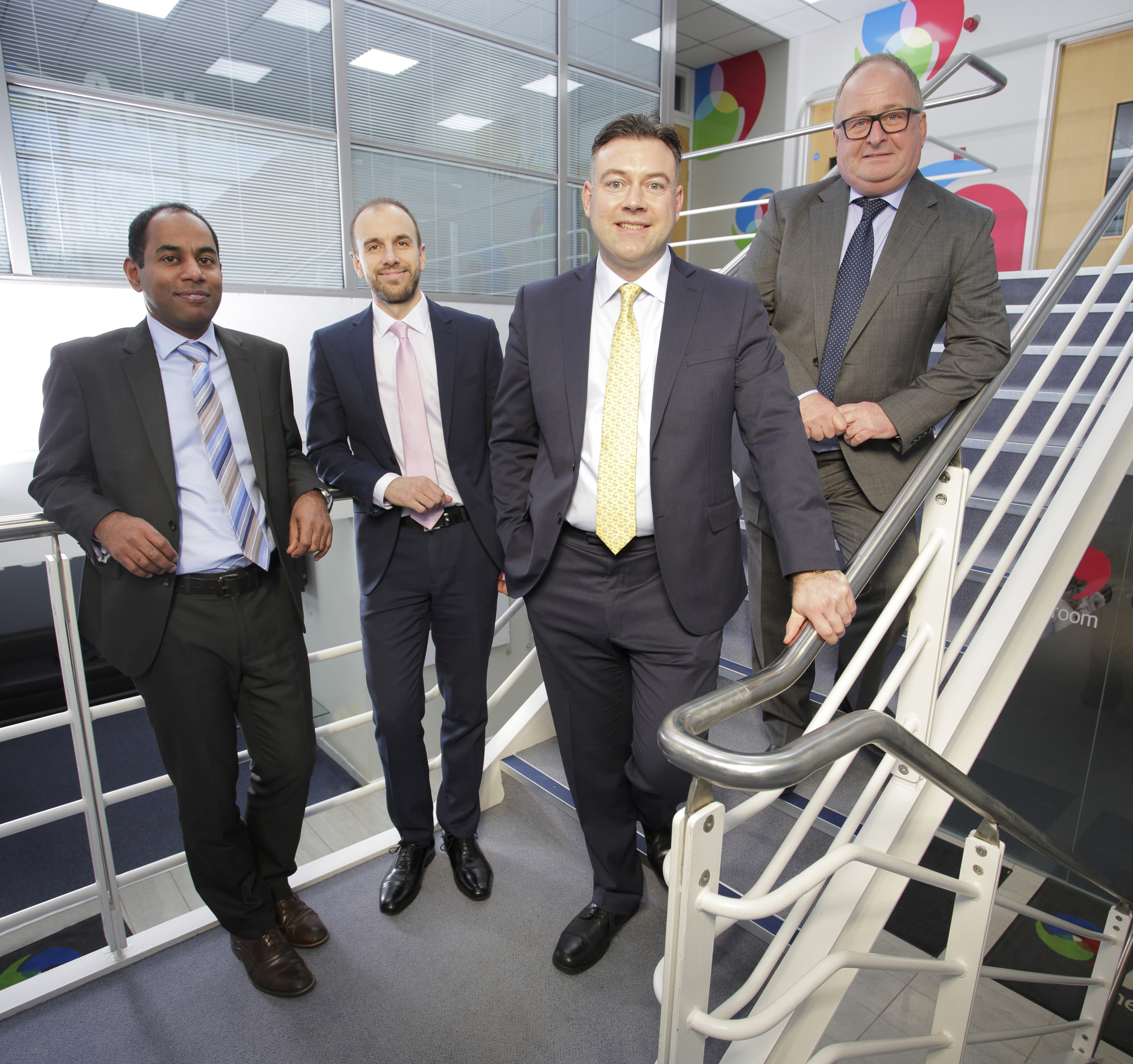 L-R: Kevin Maloney (Muckle, John Healey (UNW), Michael Vassallo (FW Capital) and Ian Gillespie (Activ)