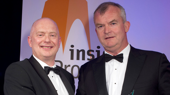 Angus White with Jonathan Combe, winner of Property Law Firm or the Year Award