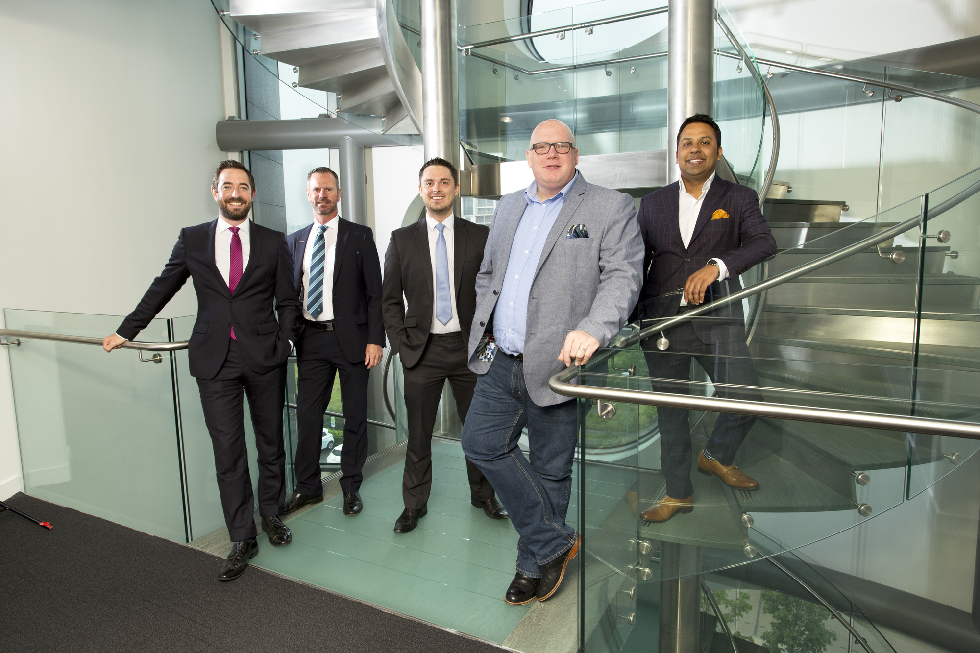 From left: Matthew Walsh (Muckle LLP); Gary Atkinson and Matthew Heaton (Barclays); Jason Knight (Blue Kangaroo); Abu Ali (Baldwins).