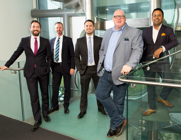 From left: Matthew Walsh (Muckle LLP); Gary Atkinson and Matthew Heaton (Barclays); Jason Knight (Blue Kangaroo); Abu Ali (Baldwins).