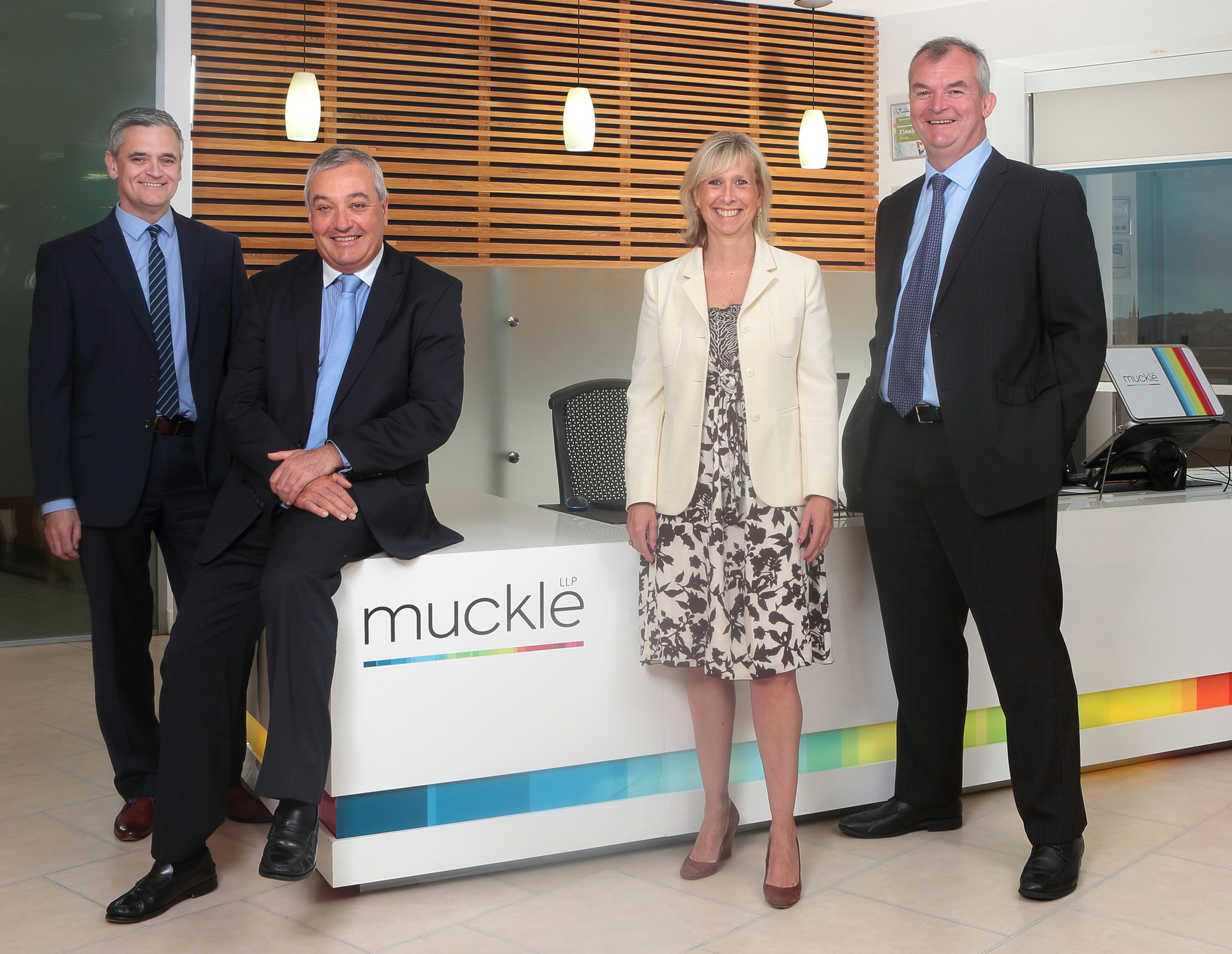 From left to right, Alan Grisedale, Tony McPhillips, Lucilla Waugh and Jonathan Combe