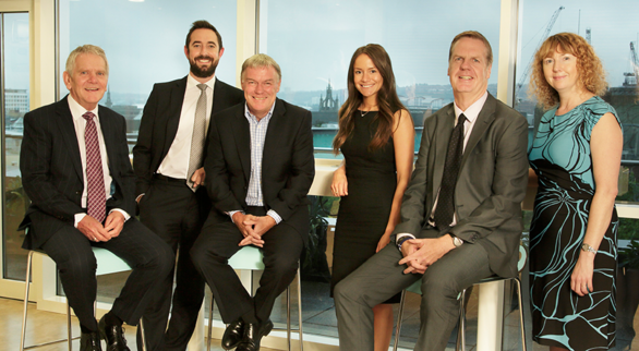 From Left to Right: Peter Abdale, Matthew Walsh, Steve Smith, Claire Willcock, Gary Henry and Tina Lynas