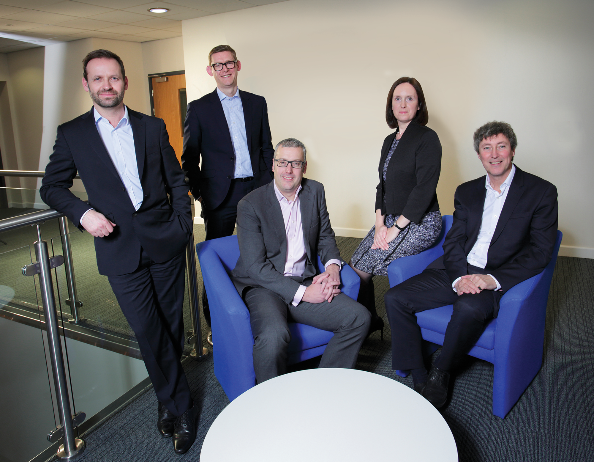 From Left to Right: Chris Rigg, Anthony Evans, Craig Swinhoe, Sarah Forster and Andrew Davison