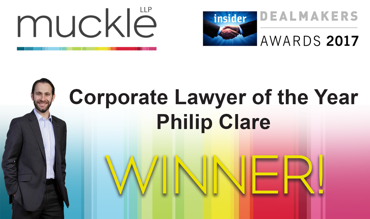 Insider North East Dealmakers Awards 2017 Winner Philip Clare Corporate Lawyer of the Year