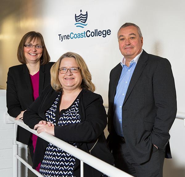 Tyne Coast College. Joanne, Helen and Tony