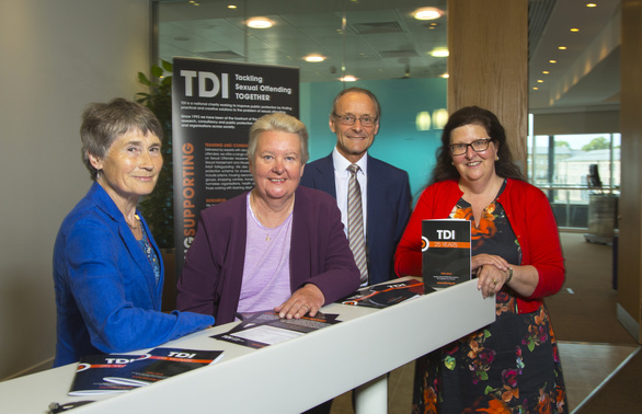 Sue Winfield, HM Lord Lieutenant of Tyne & Wear and founder trustee of TDI; Hazel Kemshall, Professor of Community and Criminal Justice at De Montfort University; Hugh Welch, Senior Partner, Muckle LLP and Deborah Jenkins, MBE, Chief Executive TDI.