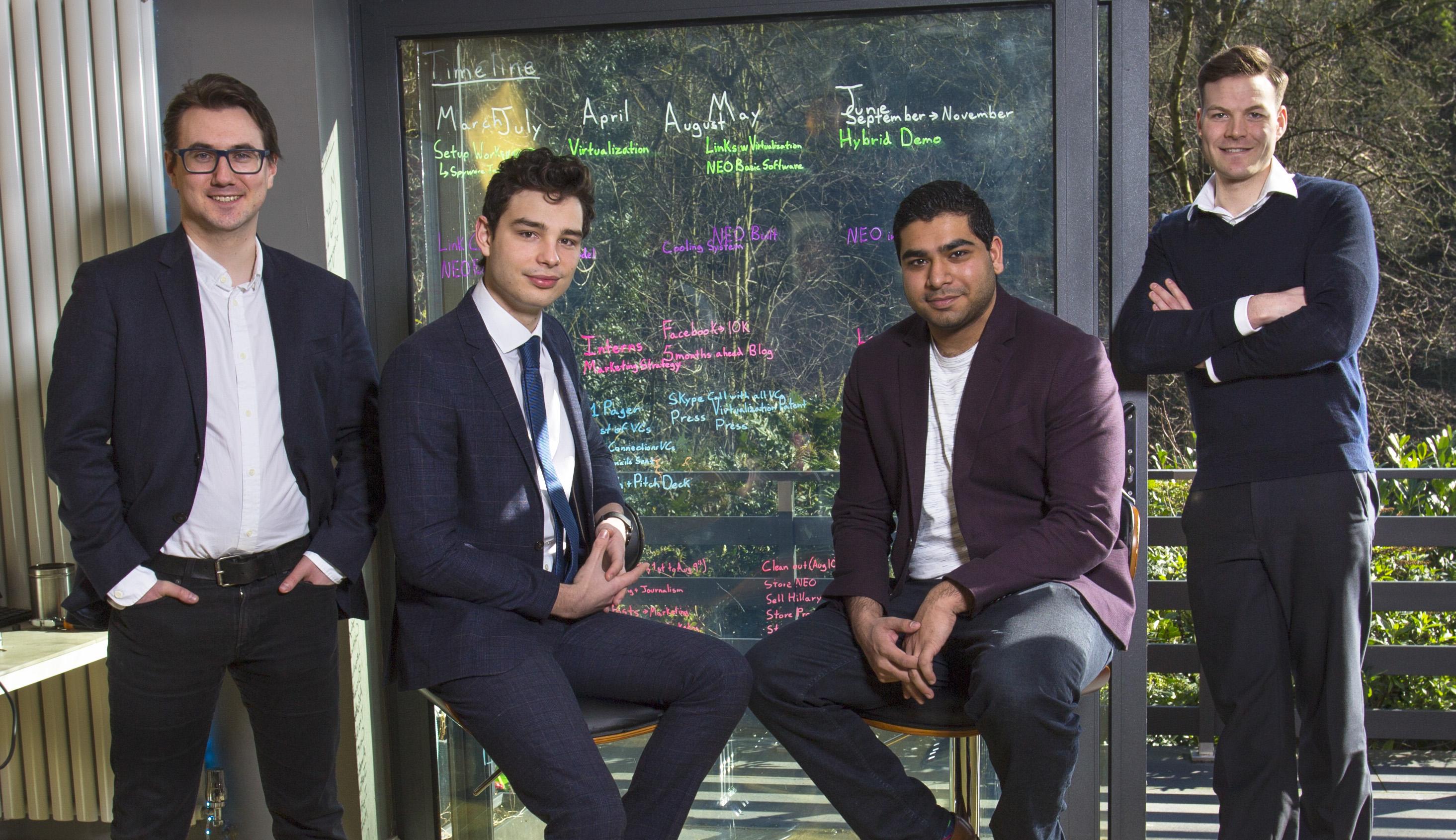 Rhys Birkinshaw and Liam Gill (Fumarii Technologies), Adam Rayner (Muckle LLP)