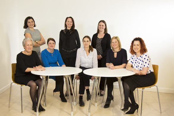 Ros Sparrow (Hay & Kilner), Carly Auletta (DRS), Julie Huntingdon, Anna Brown (Ward Hadaway), Charlotte McMurchie (Muckle), Jemma Lewins (Womble Bond Dickinson), Nicola Leyden (Muckle), Helen Casely (Savage Silk).