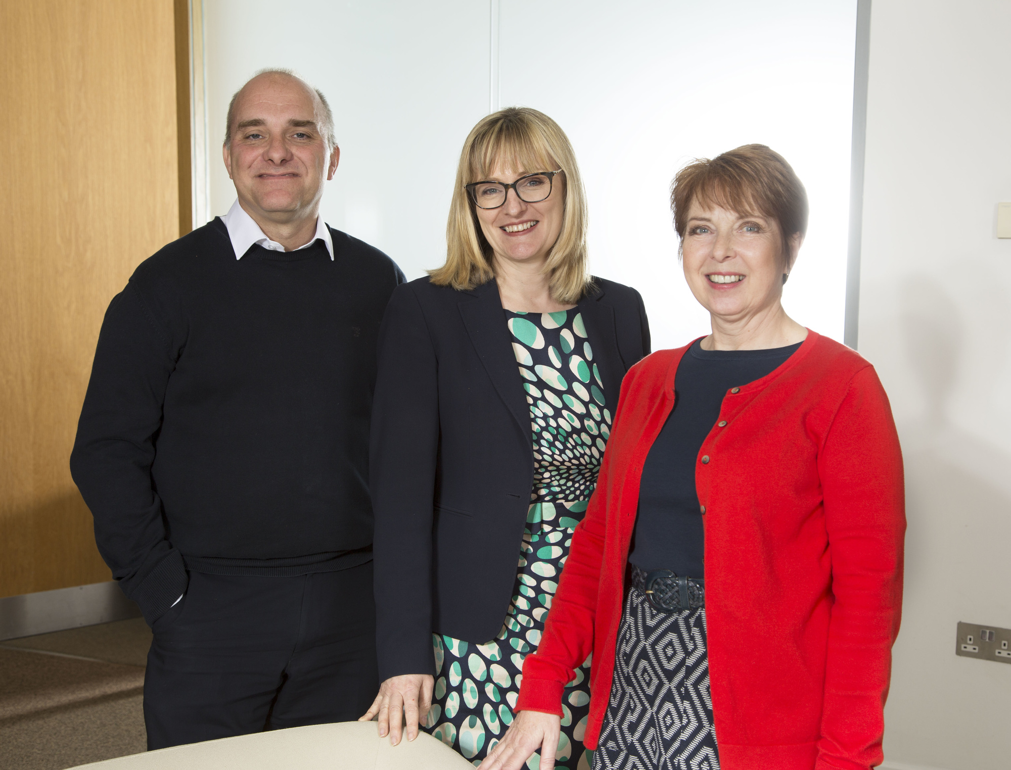 Jason Wainwright, Claire Long and Ann Cummersdale