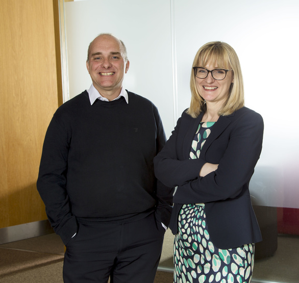 New chapter: Finance director Claire Long with managing partner Jason Wainwright