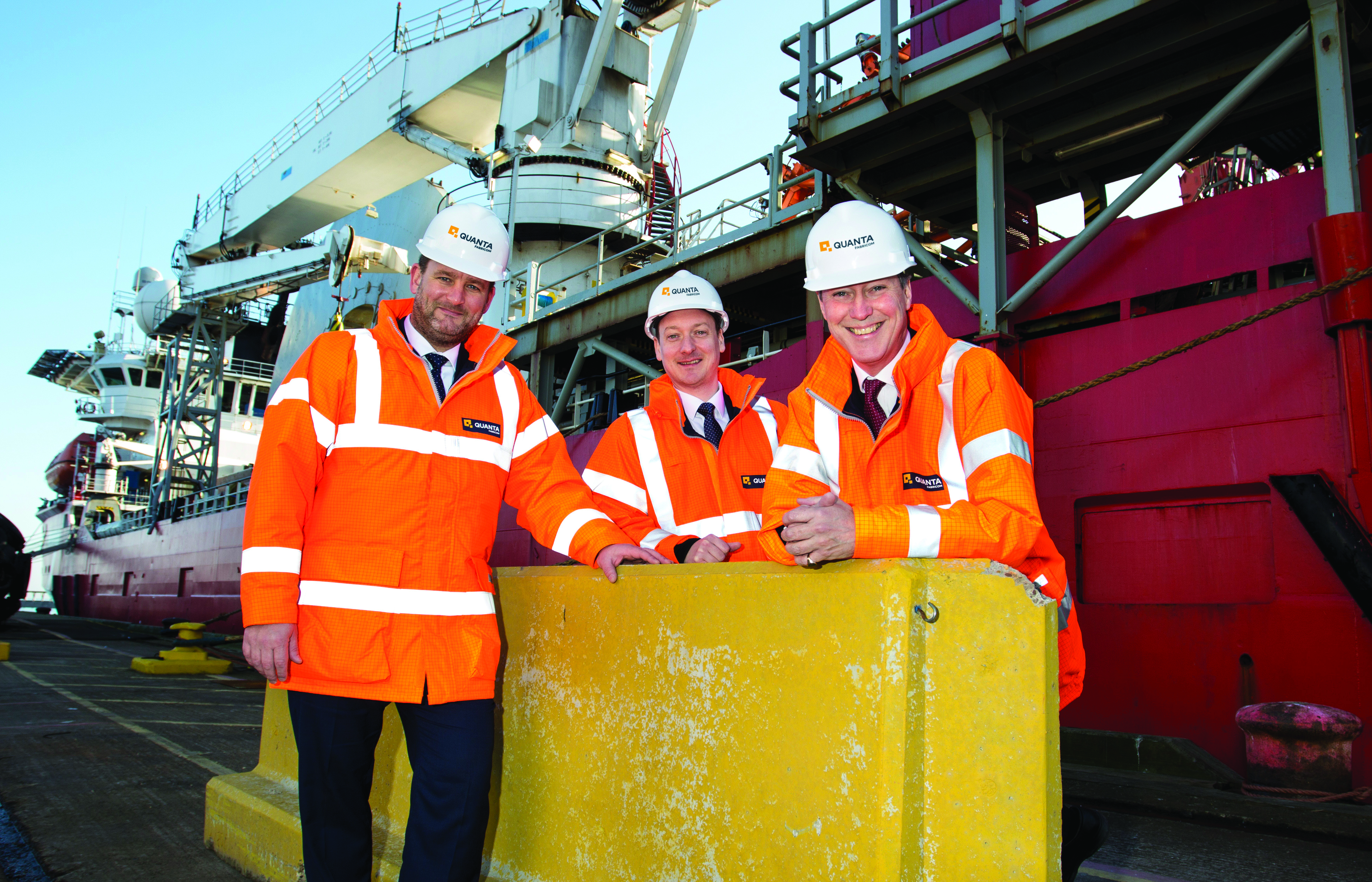 Shipshape advice: Nick Oates, Quanta Fabricom CEO, with Stuart Grieve and Andrew Davison
