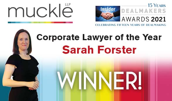 North East Dealmakers - Corporate Lawyer of the Year Winner, Sarah Forster