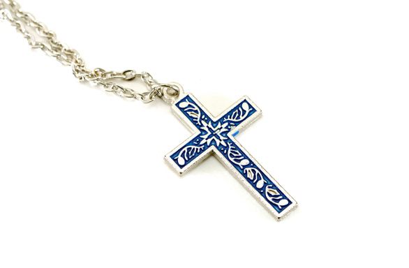 Photo of a Silver Crucifix and Chain