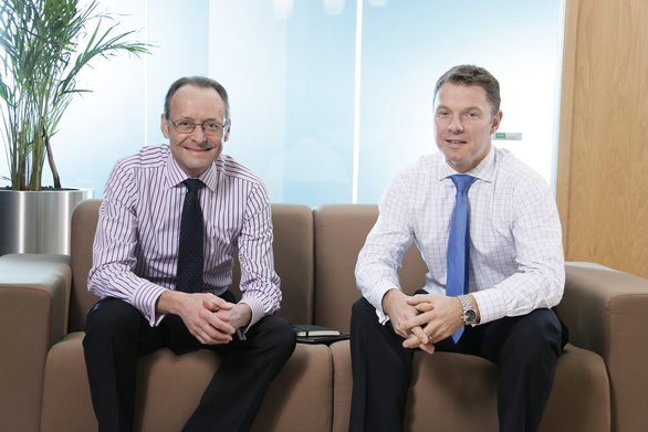 Hugh Welch Senior Partner and Stephen McNicol Managing Partner L R